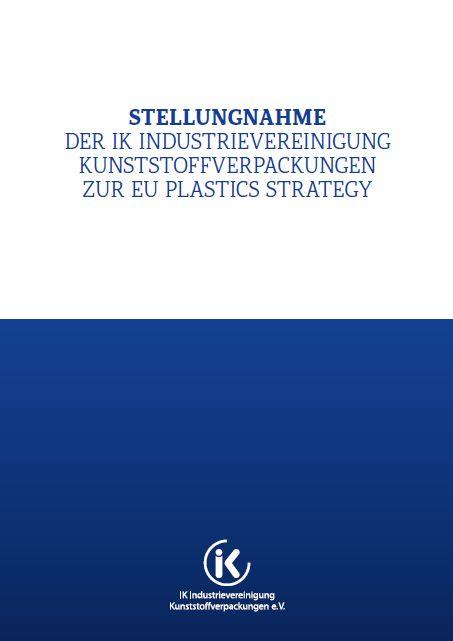 Stellungnahme der IK zur EU Plastics Strategy Vorschau