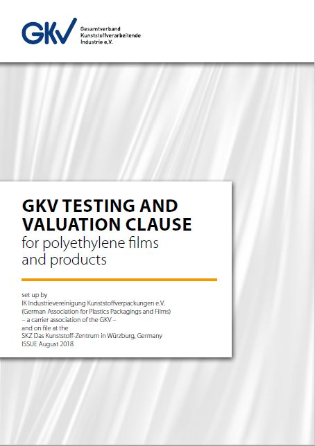 GKV Testing and Valuation Clause for polyethylene Films and Products Vorschau