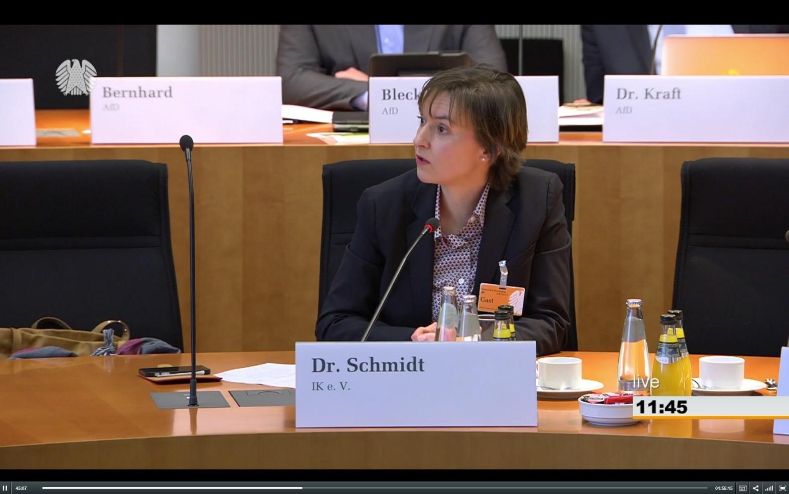 Frau Dr. Schmidt Bundestag