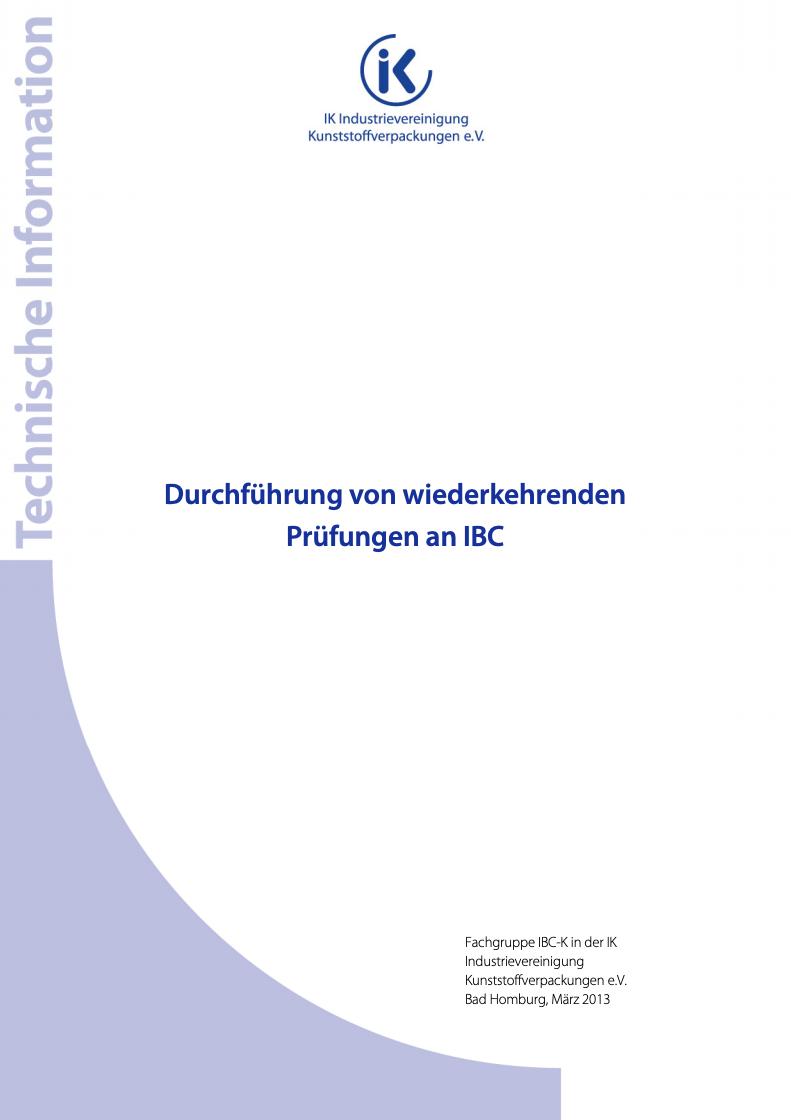 Durchführung von wiederkehrenden Prüfungen an IBC Vorschau