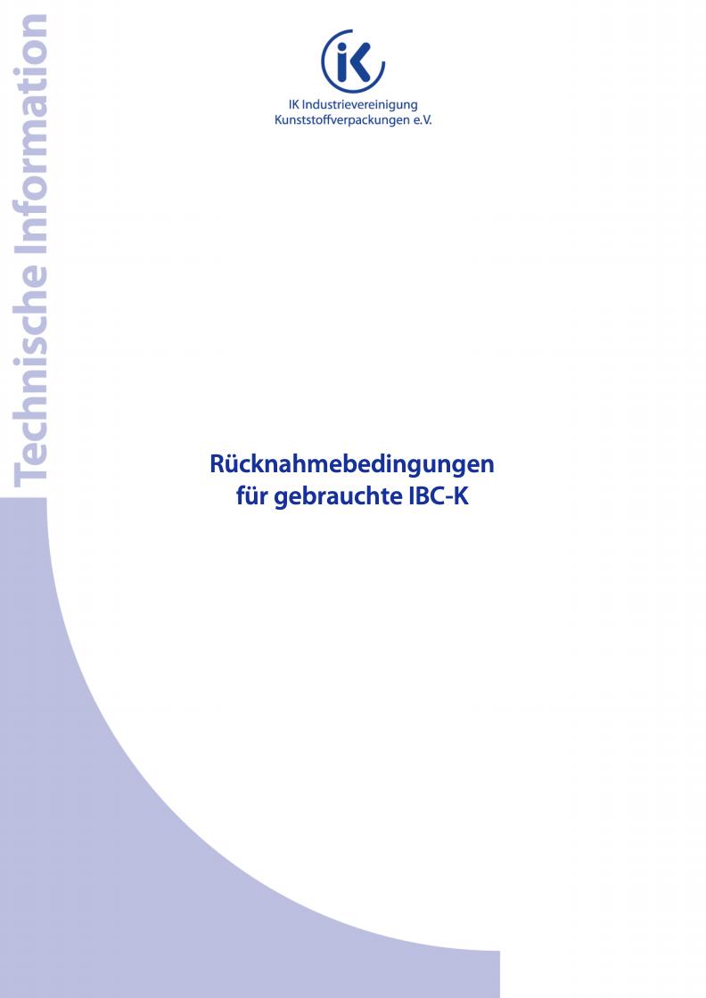 Rücknahmebedingungen für gebrauchte IBC-K Vorschau